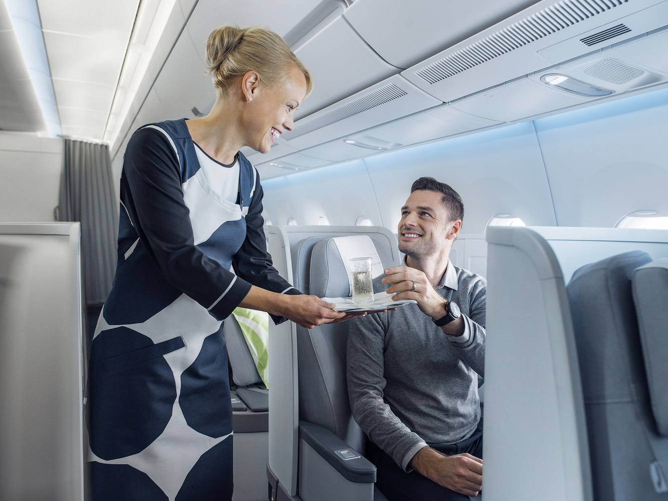 Finnair A350 Business class service 102